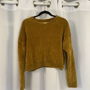 UO gold cropped sweater